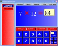 Thumbnail of one of several screens of Multiplication Times Table.